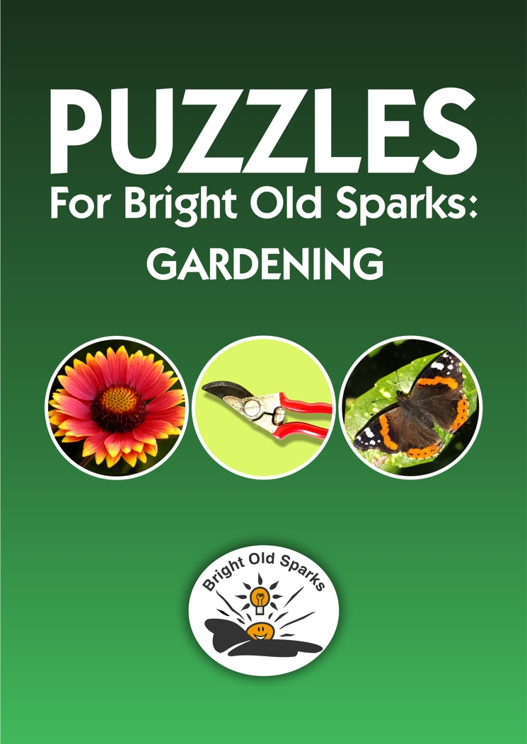 Cover for Puzzles for Bright Old Sparks: Gardening