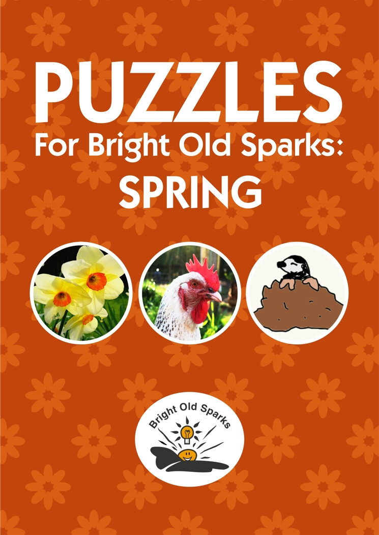 Cover for Puzzles for Bright Old Sparks: Spring